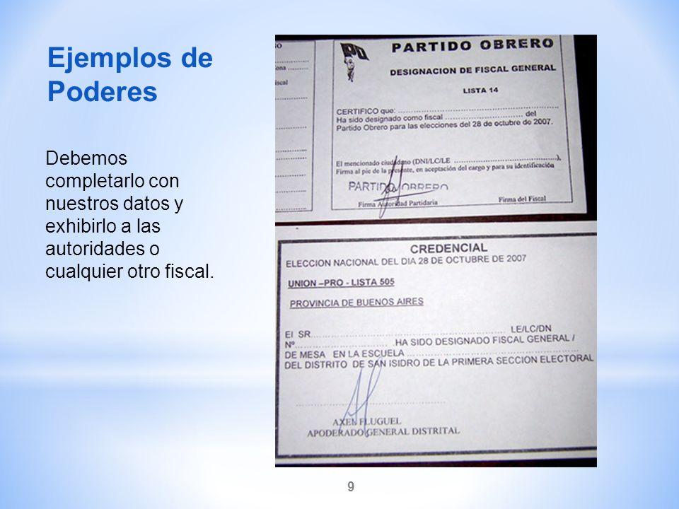 Ejemplos de Poderes.