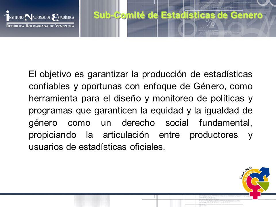 Sub-Comité de Estadísticas de Genero
