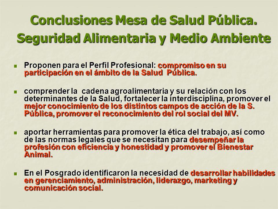 Conclusiones Mesa de Salud Pública