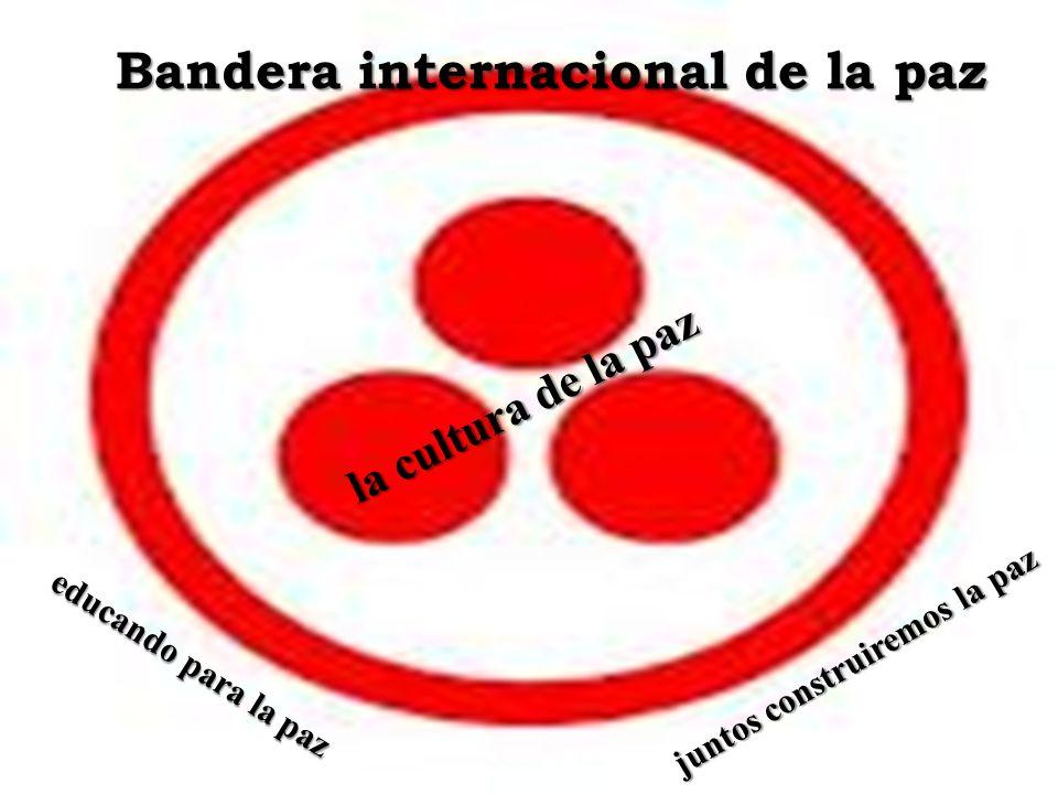 Bandera internacional de la paz juntos construiremos la paz
