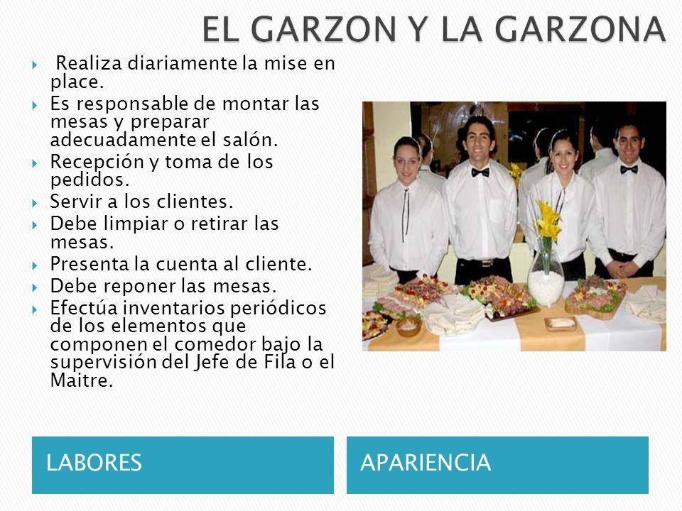 EL GARZON Y LA GARZONA LABORES APARIENCIA
