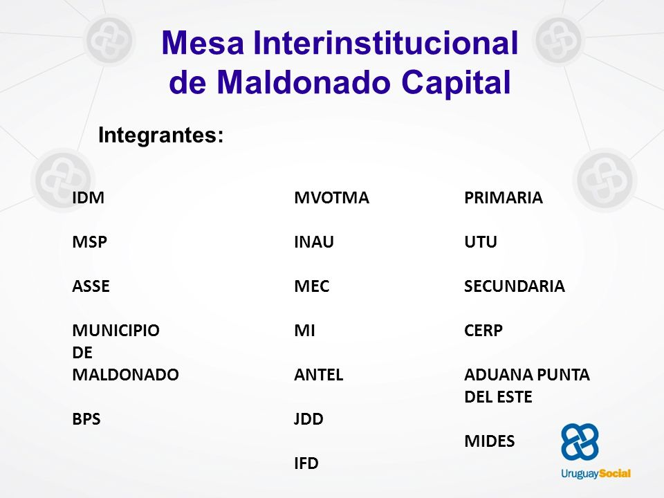 Mesa Interinstitucional