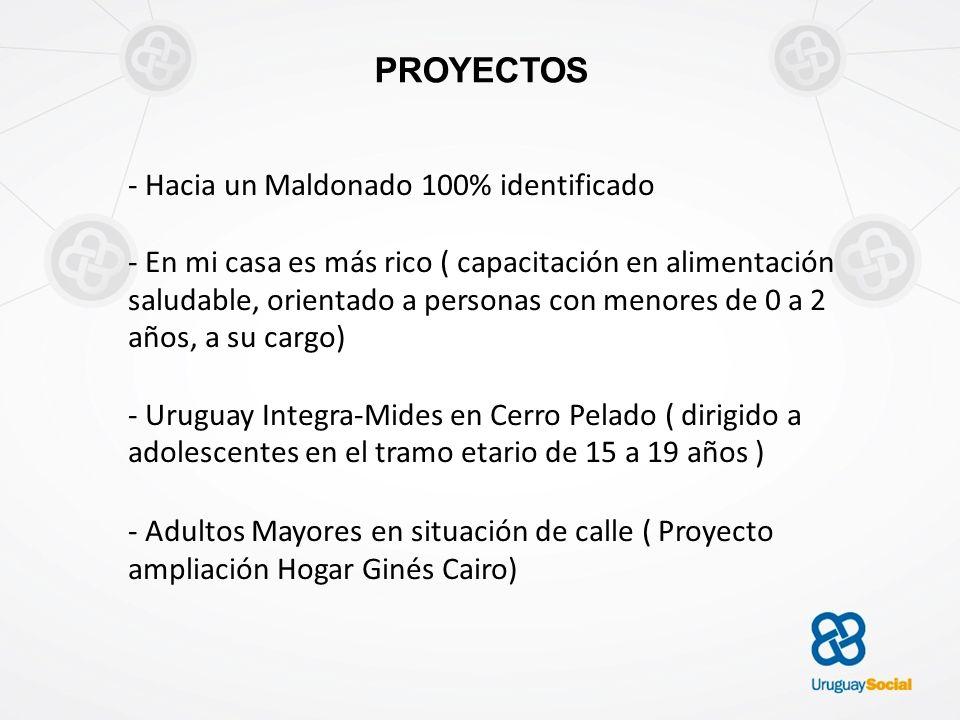 PROYECTOS - Hacia un Maldonado 100% identificado