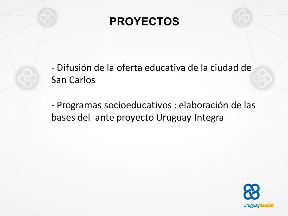 PROYECTOS - Difusión de la oferta educativa de la ciudad de San Carlos