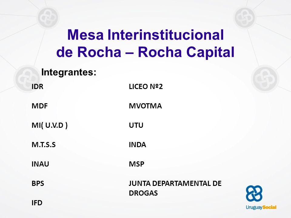 Mesa Interinstitucional de Rocha – Rocha Capital