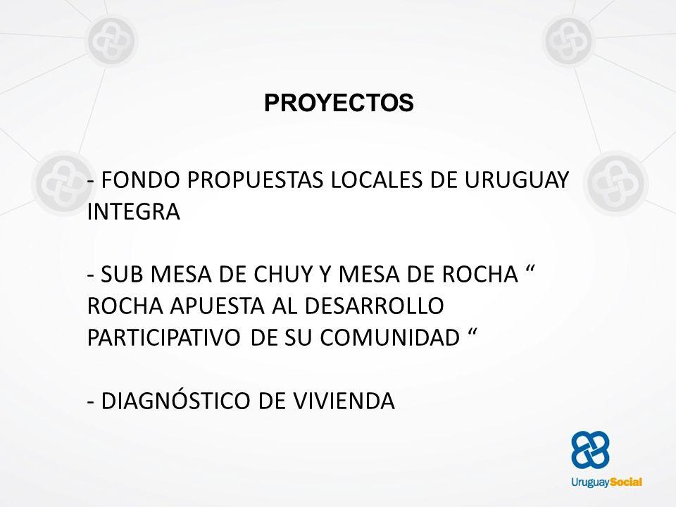 - FONDO PROPUESTAS LOCALES DE URUGUAY INTEGRA