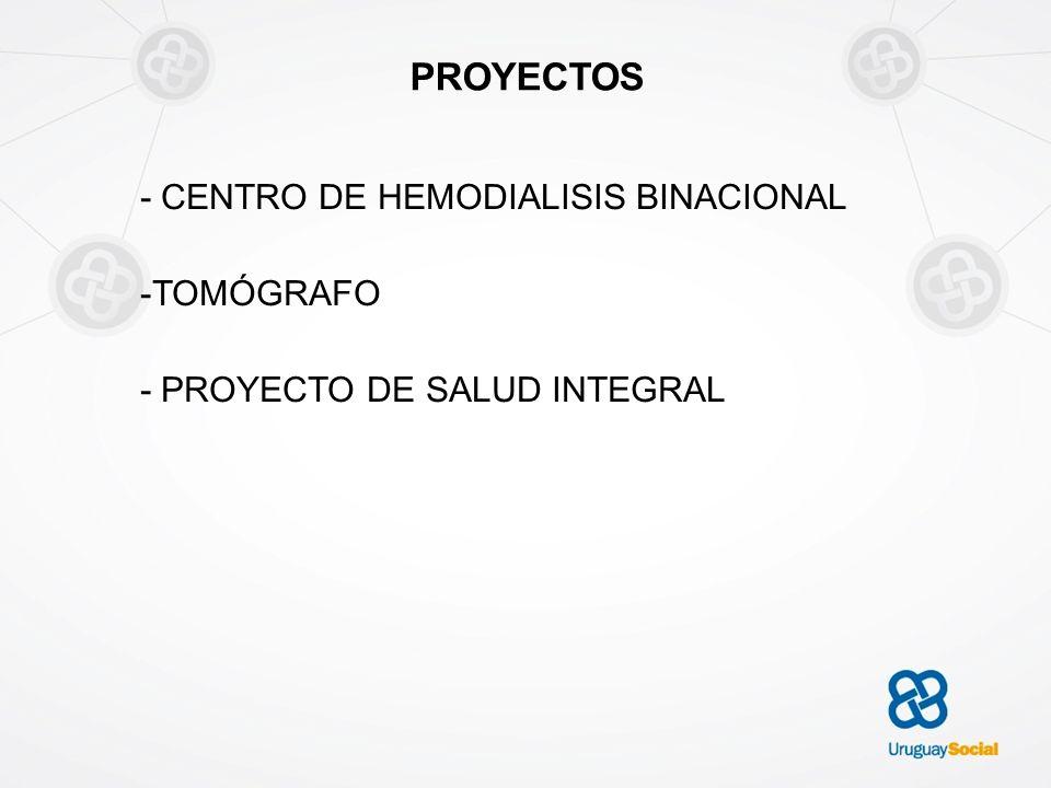 PROYECTOS - CENTRO DE HEMODIALISIS BINACIONAL -TOMÓGRAFO