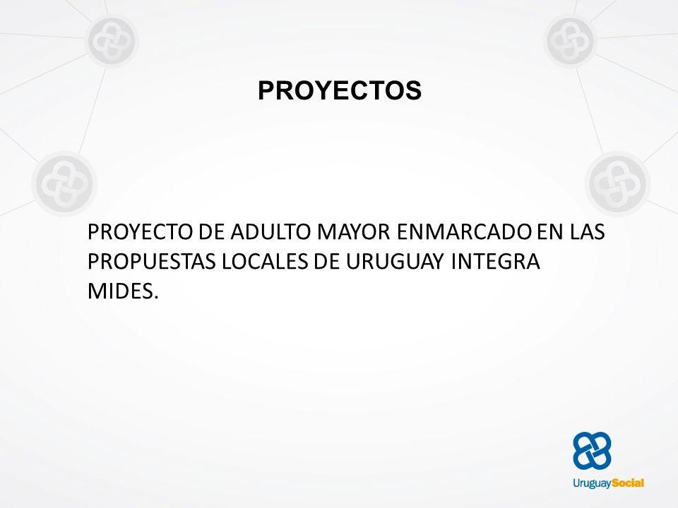 PROYECTOS PROYECTO DE ADULTO MAYOR ENMARCADO EN LAS PROPUESTAS LOCALES DE URUGUAY INTEGRA MIDES.