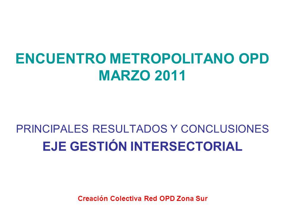 ENCUENTRO METROPOLITANO OPD MARZO 2011