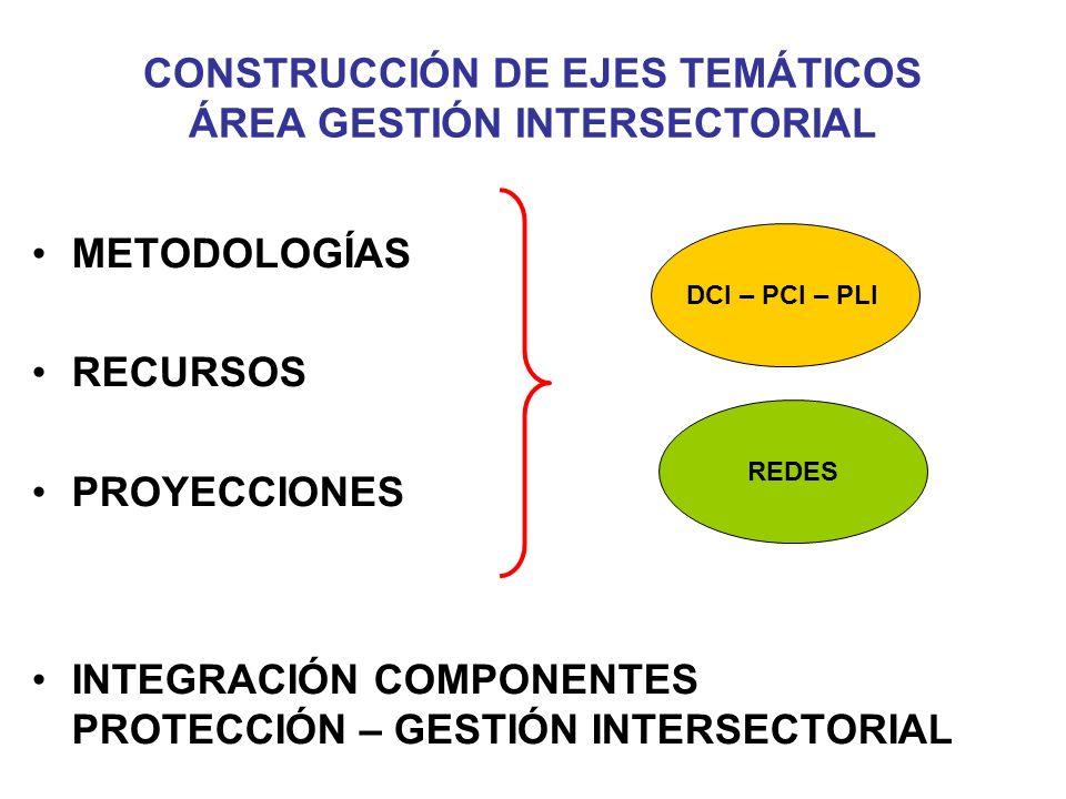 CONSTRUCCIÓN DE EJES TEMÁTICOS ÁREA GESTIÓN INTERSECTORIAL