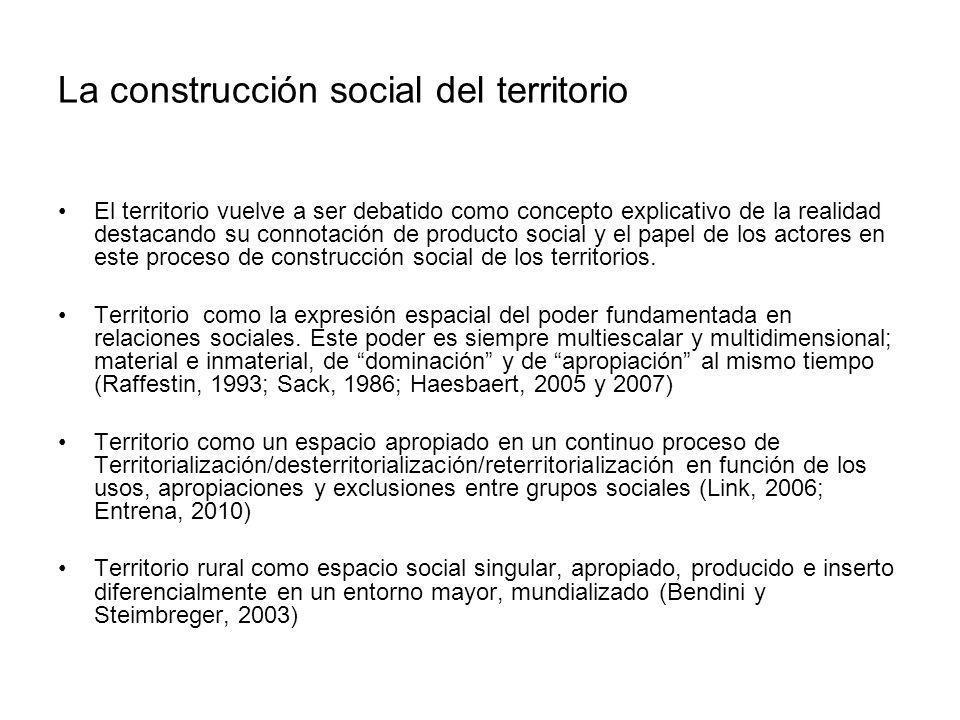 La construcción social del territorio