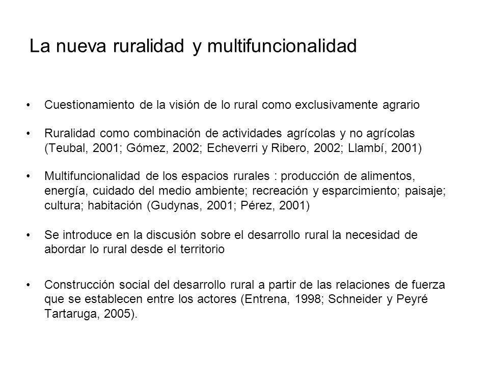 La nueva ruralidad y multifuncionalidad