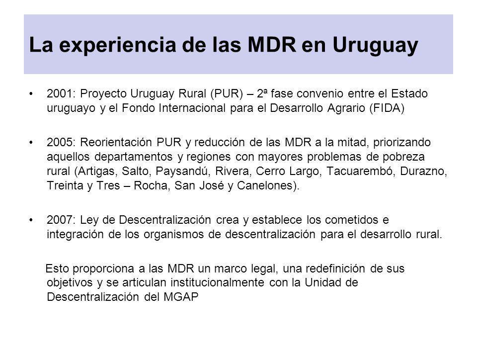 La experiencia de las MDR en Uruguay