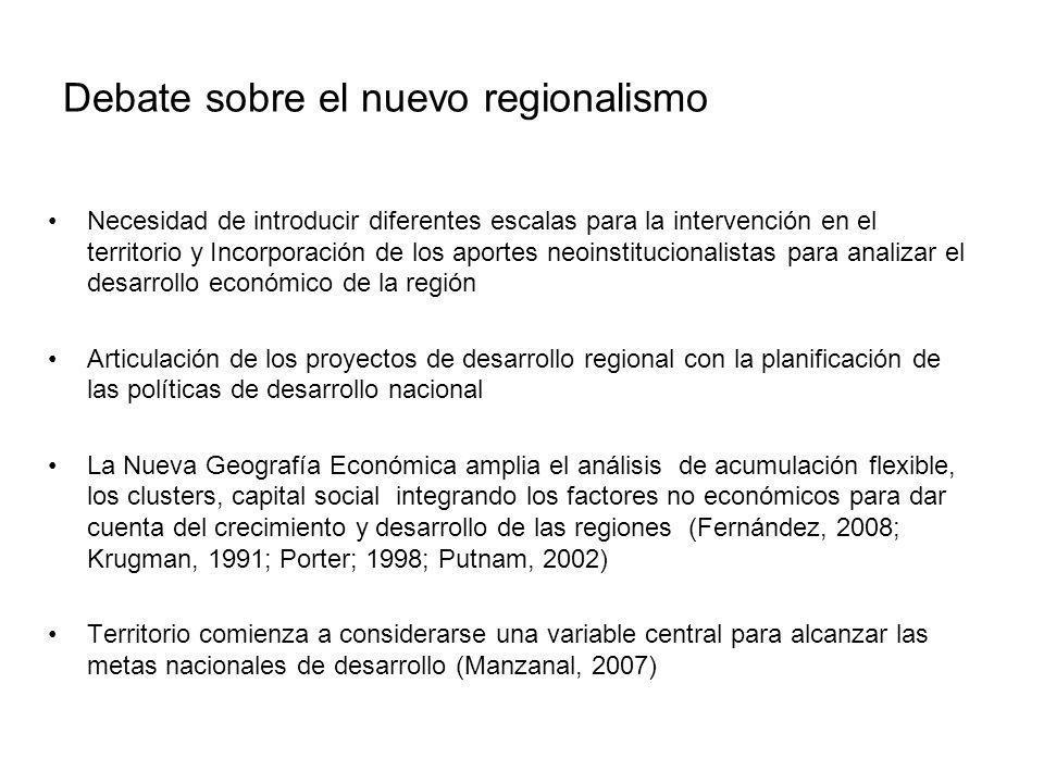 Debate sobre el nuevo regionalismo