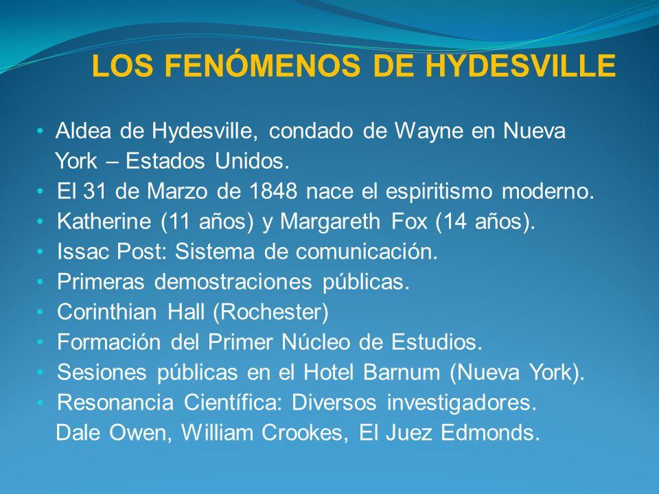 LOS FENÓMENOS DE HYDESVILLE