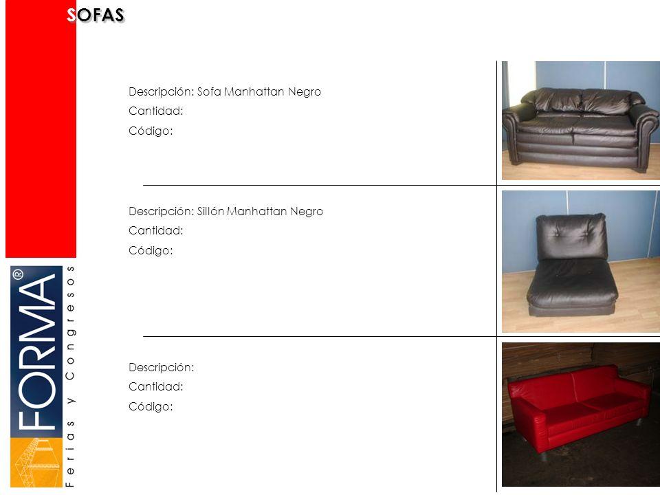 SOFAS Descripción: Sofa Manhattan Negro Cantidad: Código: