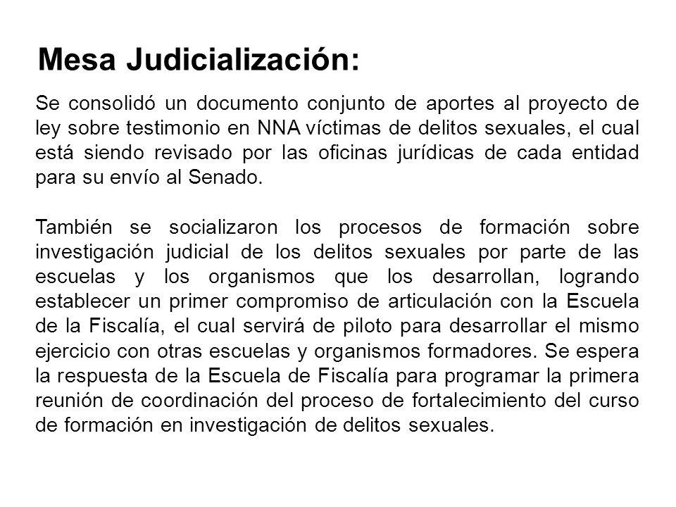 Mesa Judicialización: