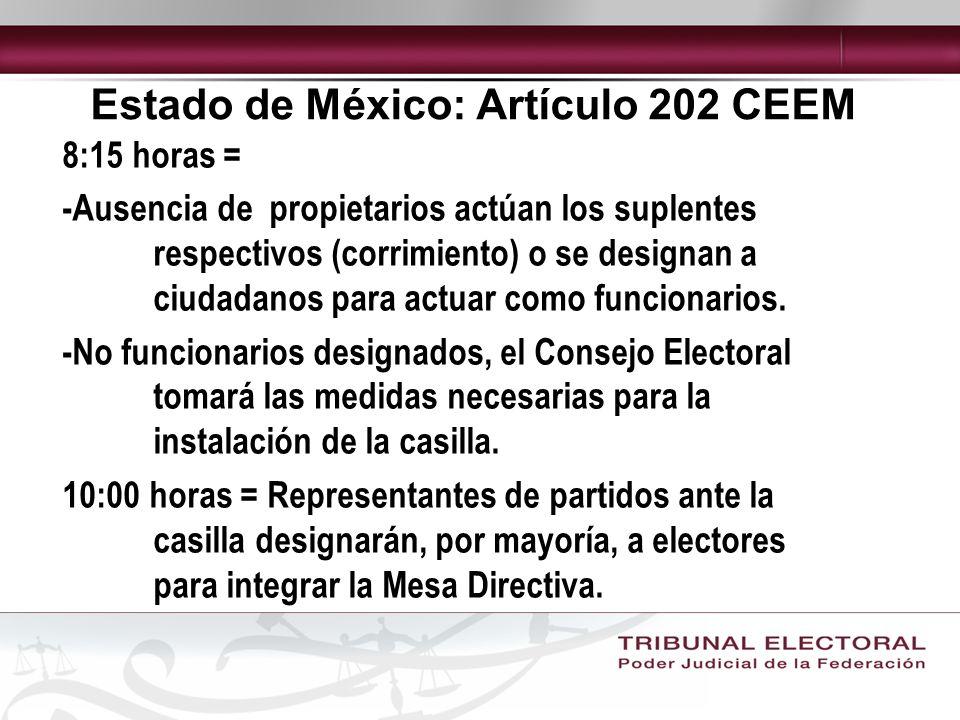 Estado de México: Artículo 202 CEEM