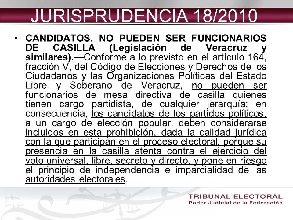 JURISPRUDENCIA 18/2010