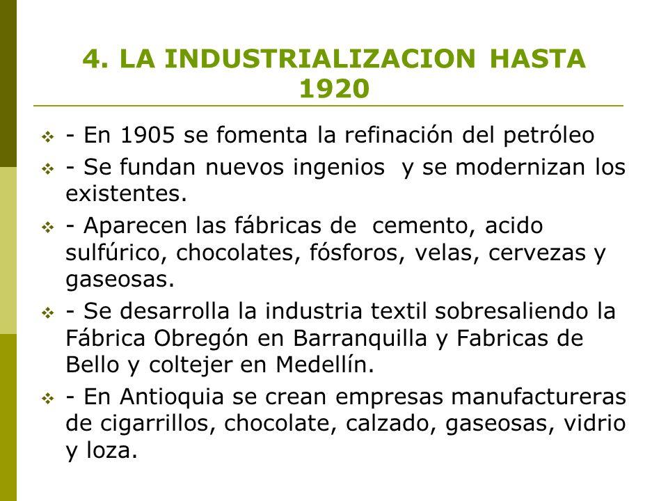 4. LA INDUSTRIALIZACION HASTA 1920