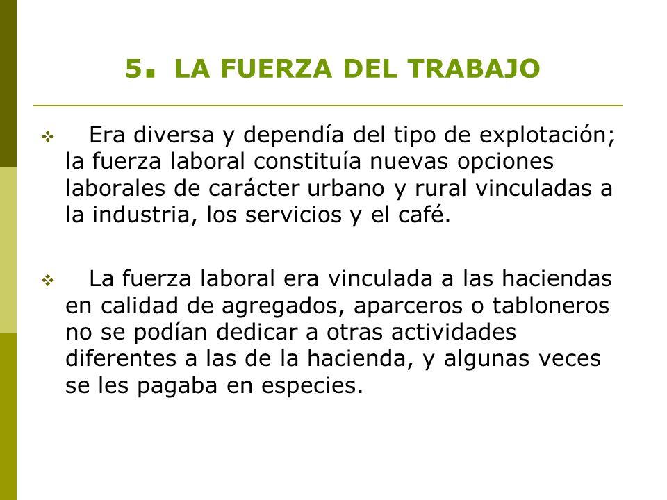 5. LA FUERZA DEL TRABAJO