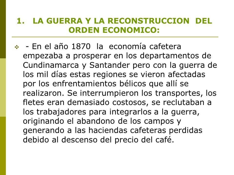 1. LA GUERRA Y LA RECONSTRUCCION DEL ORDEN ECONOMICO: