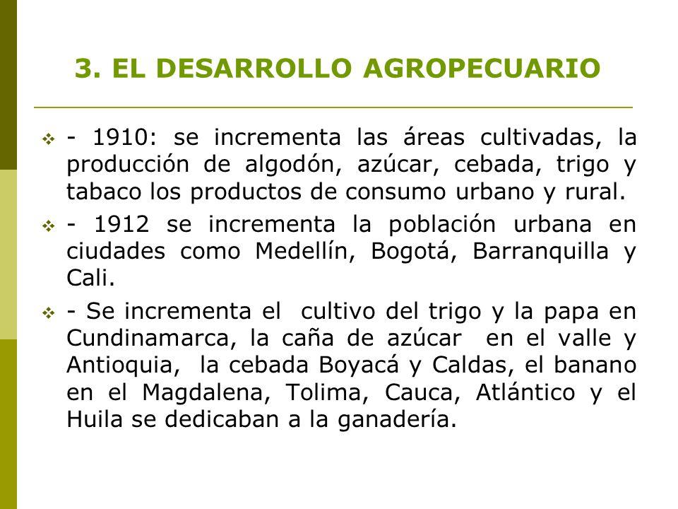 3. EL DESARROLLO AGROPECUARIO