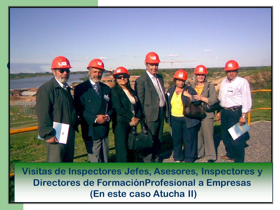 Visitas de Inspectores Jefes, Asesores, Inspectores y