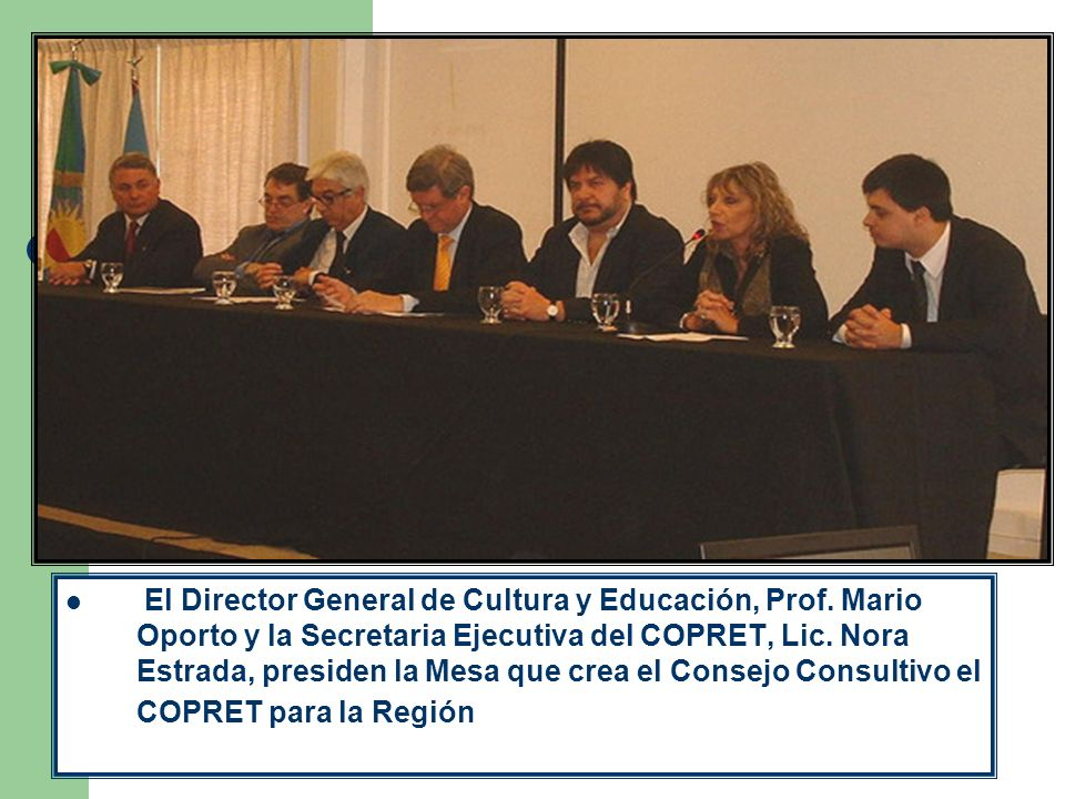 El Director General de Cultura y Educación, Prof