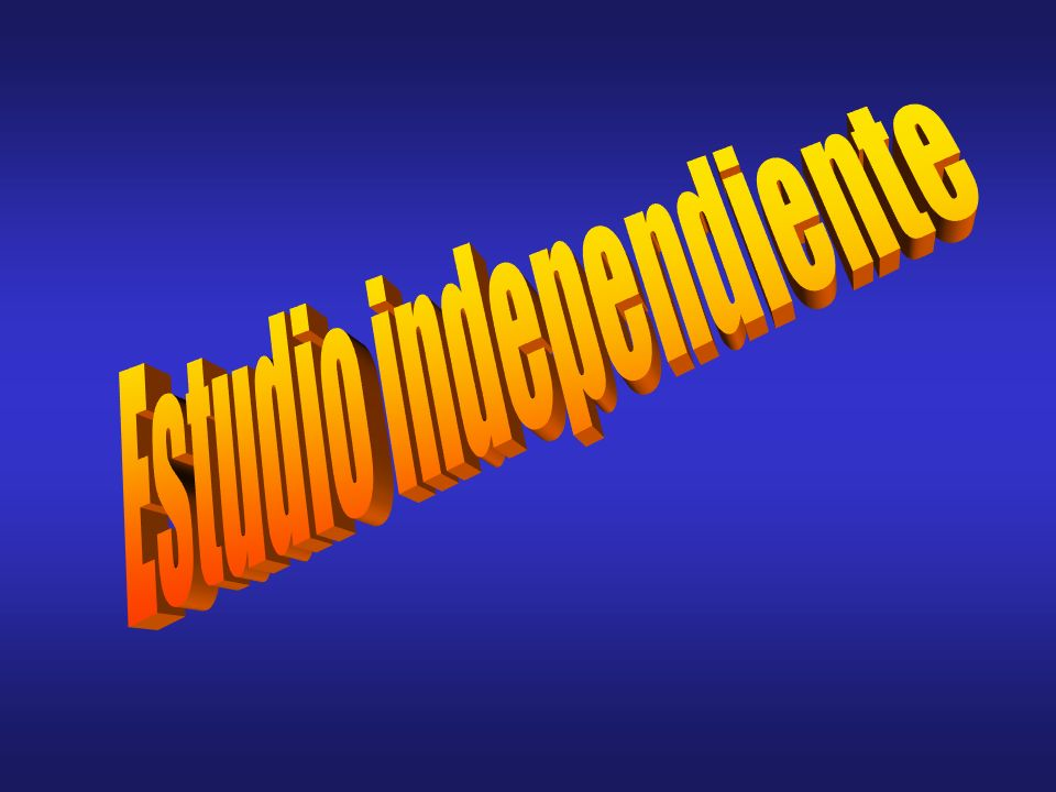 Estudio independiente