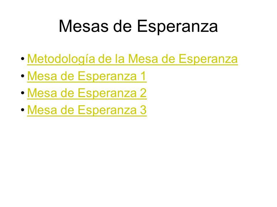 Mesas de Esperanza Metodología de la Mesa de Esperanza
