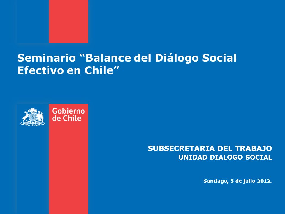Seminario Balance del Diálogo Social Efectivo en Chile