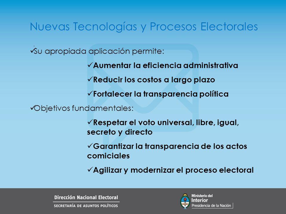 Nuevas Tecnologías y Procesos Electorales