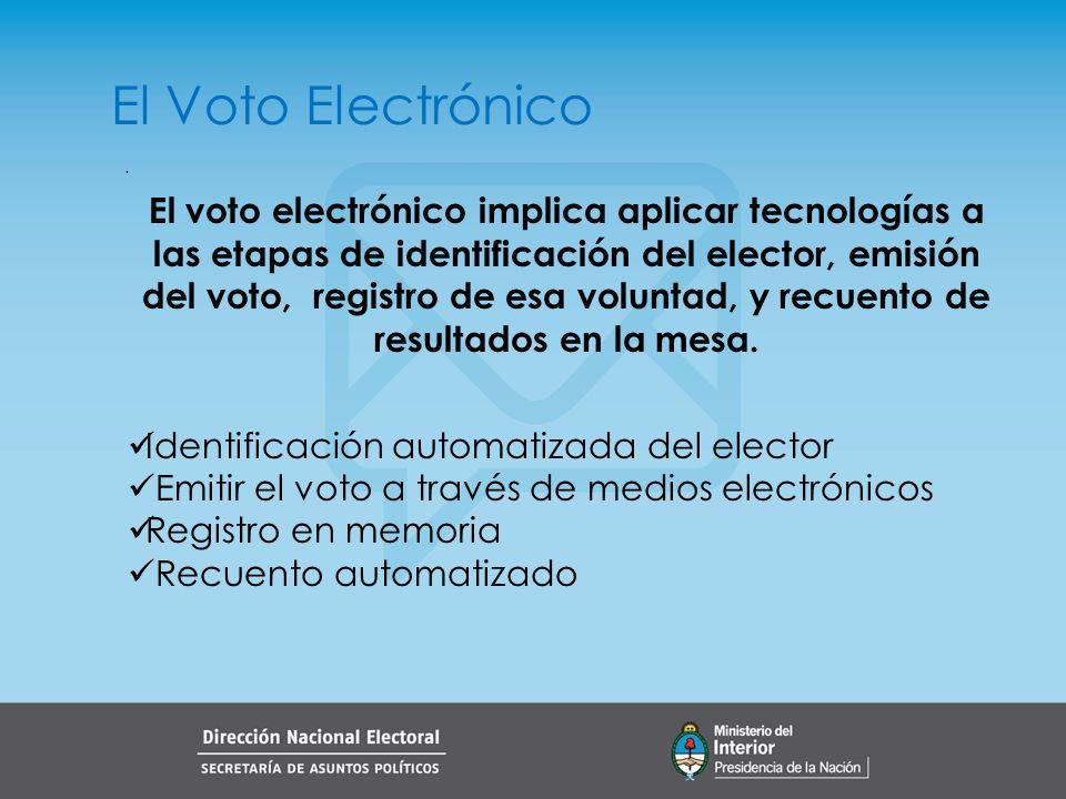 El Voto Electrónico .
