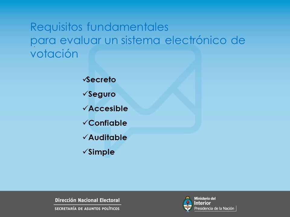 Requisitos fundamentales para evaluar un sistema electrónico de votación