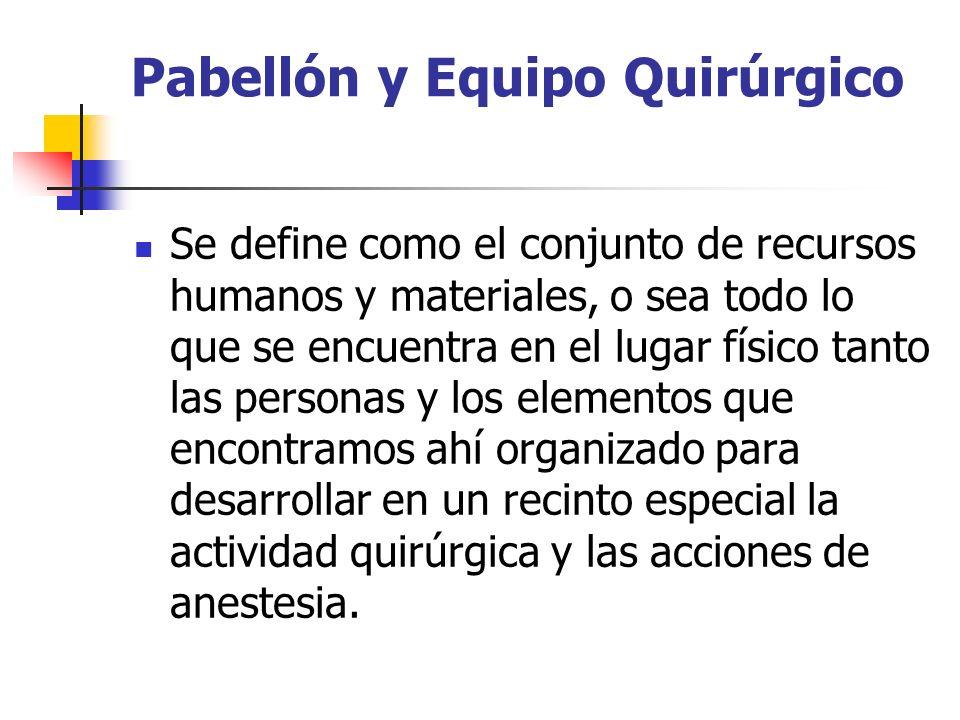 Pabellón y Equipo Quirúrgico