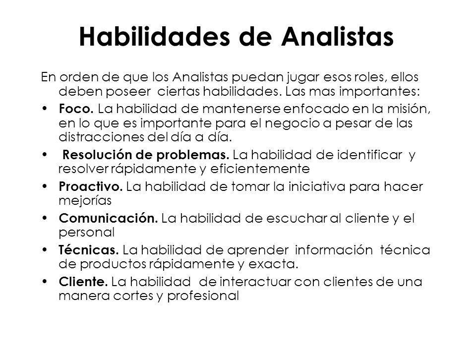 Habilidades de Analistas