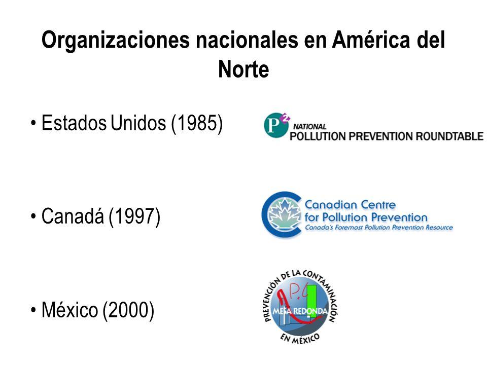 Organizaciones nacionales en América del Norte