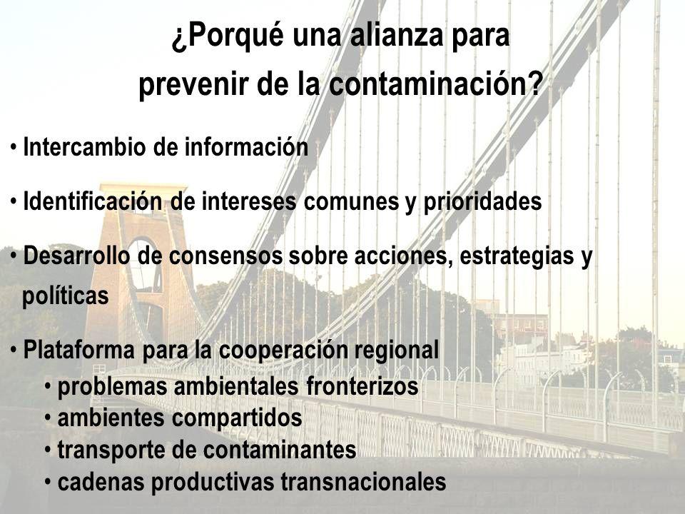 ¿Porqué una alianza para prevenir de la contaminación