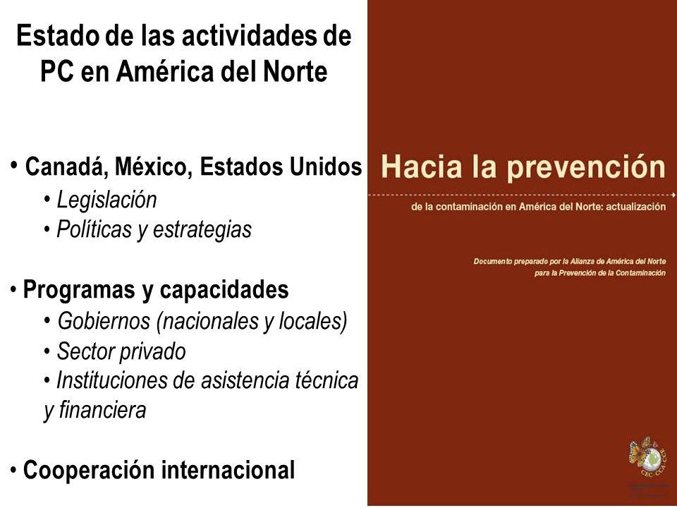 Estado de las actividades de PC en América del Norte