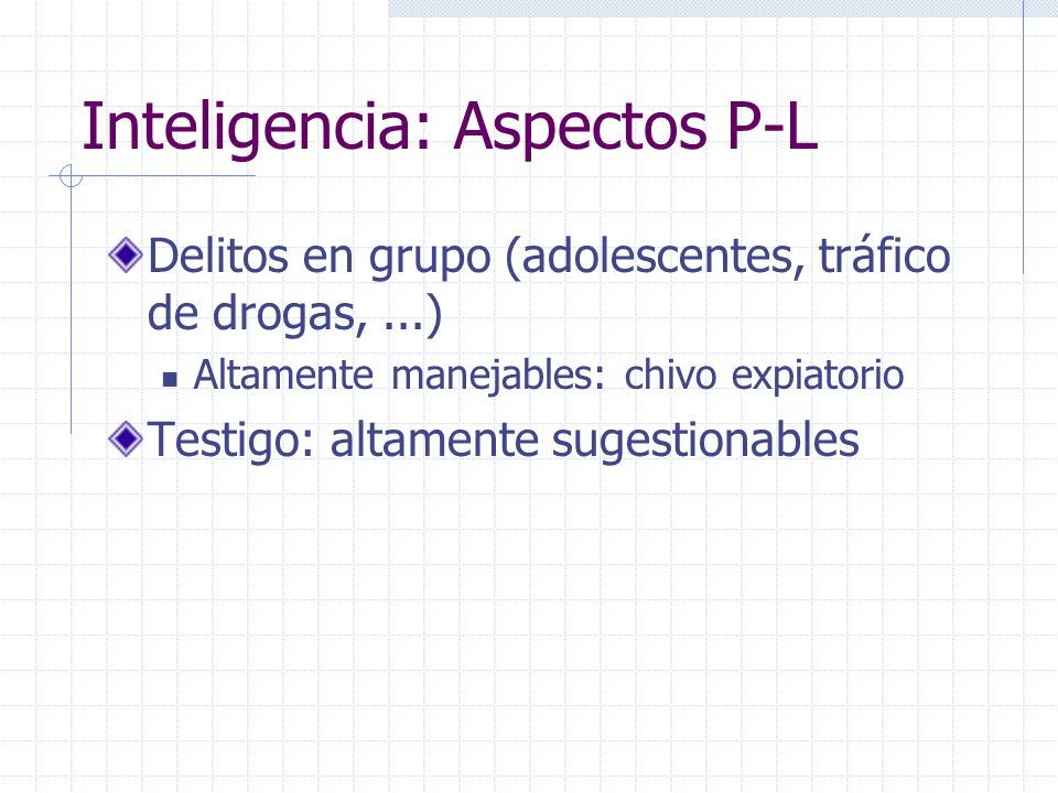 Inteligencia: Aspectos P-L
