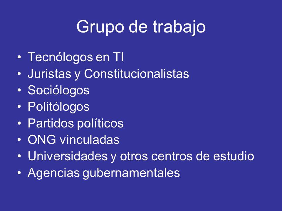 Grupo de trabajo Tecnólogos en TI Juristas y Constitucionalistas