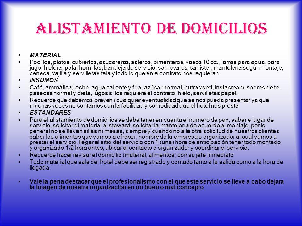 ALISTAMIENTO DE DOMICILIOS