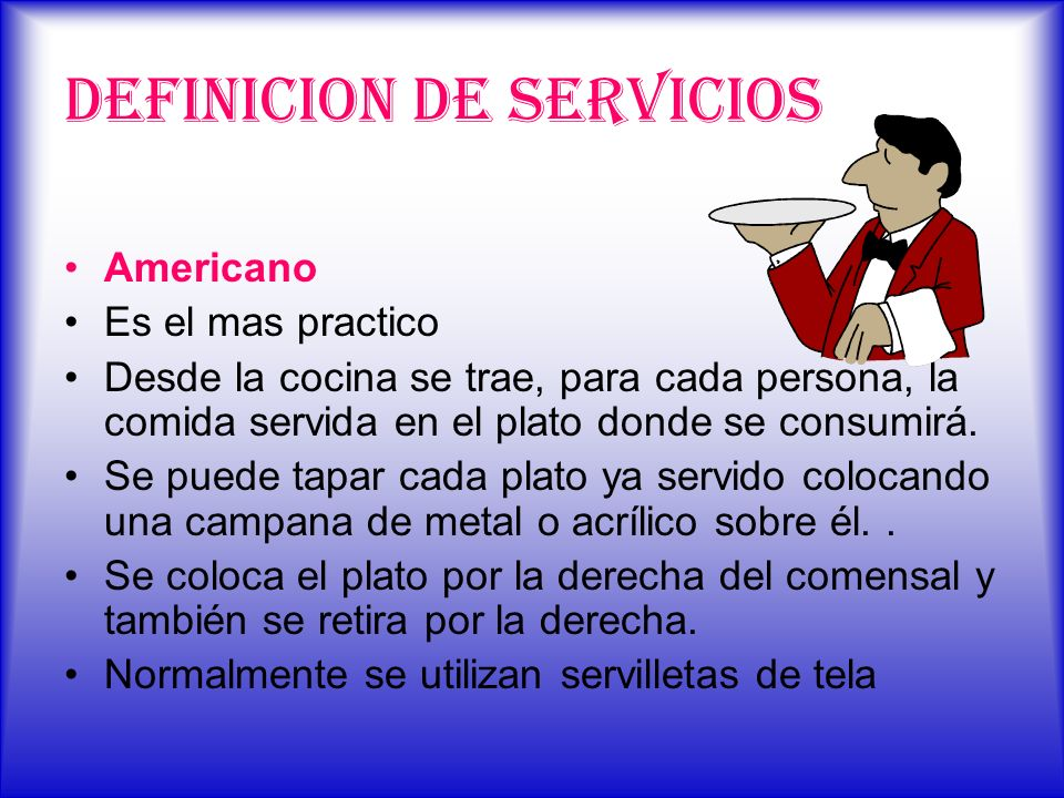 DEFINICION DE SERVICIOS
