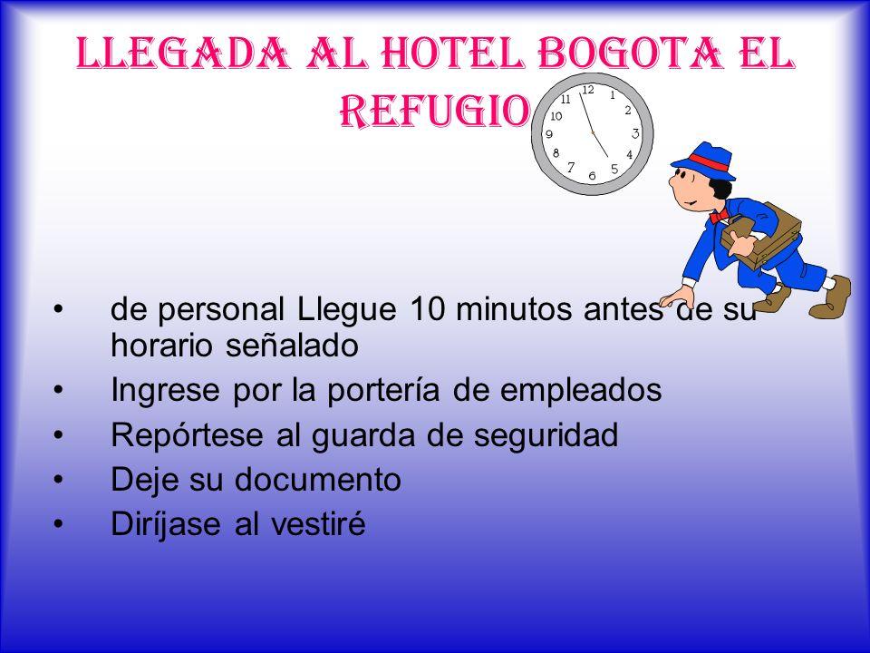 LLEGADA AL HOTEL BOGOTA EL REFUGIO