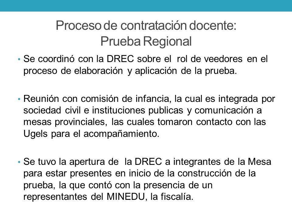 Proceso de contratación docente: Prueba Regional