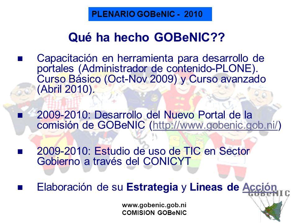 Qué ha hecho GOBeNIC