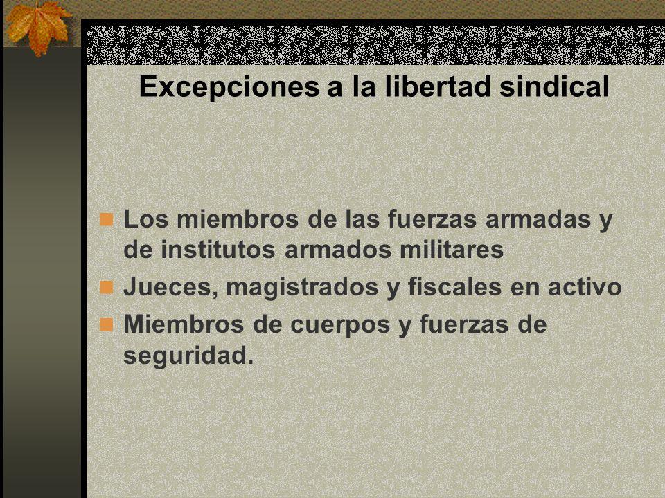 Excepciones a la libertad sindical