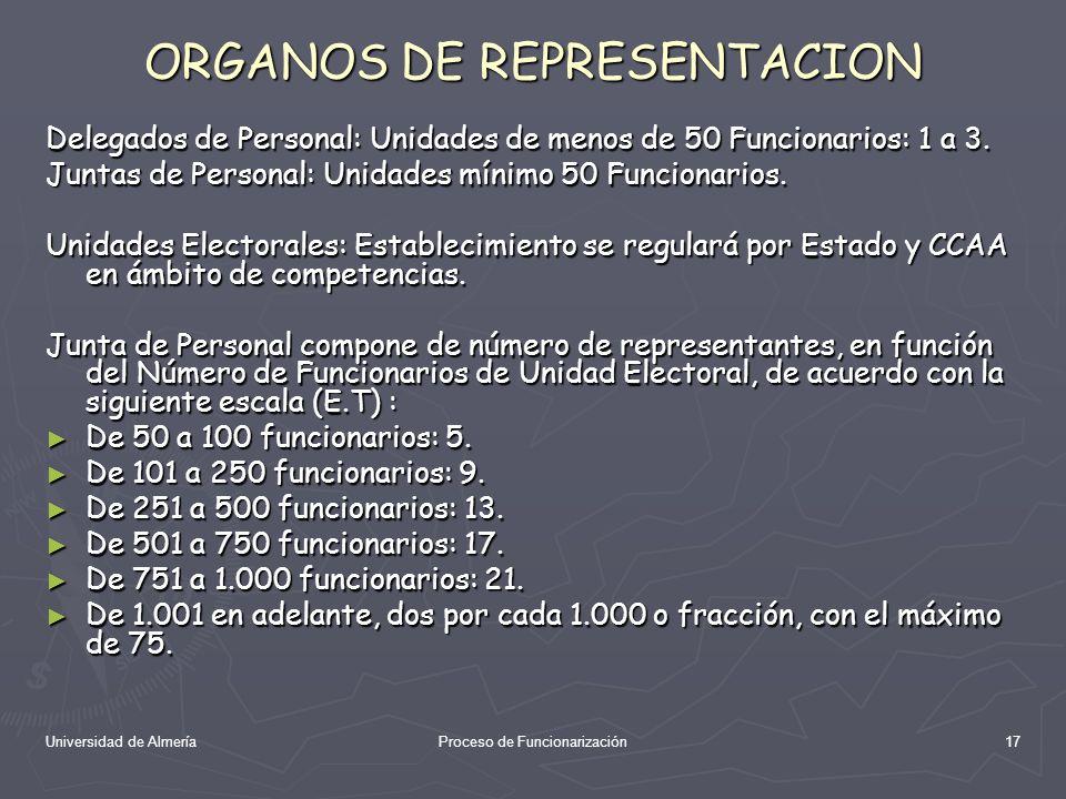 ORGANOS DE REPRESENTACION