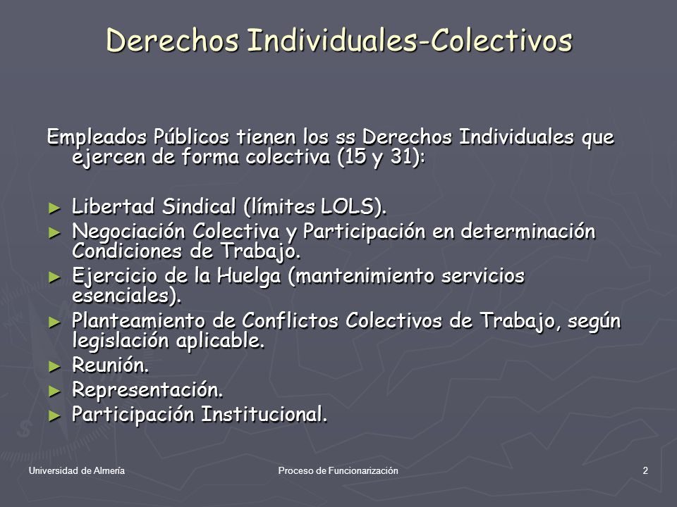 Derechos Individuales-Colectivos